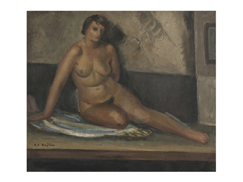 woman in nude by zenzaburo kojima