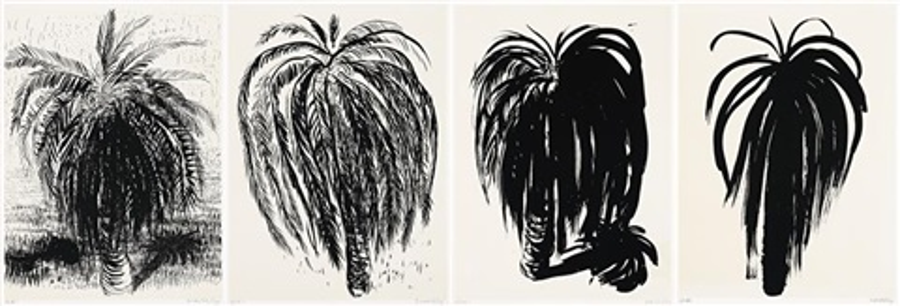 palm tree 1, 2, 3, 4 (4 works) by brett whiteley