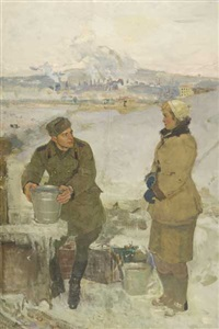 the first meeting at the well by mikhail krivenko