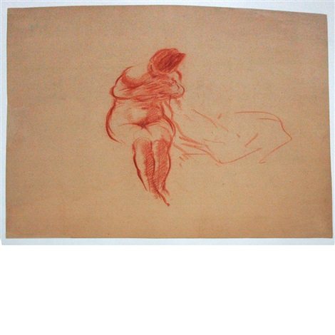 sketch female back view and others 5 works by everett shinn
