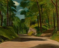 road on mount royal by william goodridge roberts