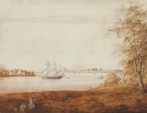 view of calcutta and fort william from sir john doylys garden reach by charles sir doyly