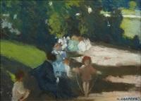 enfants au parc by nicolae gropeanu