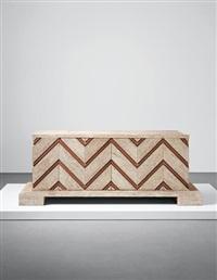 rare 'chevron' sideboard by jean royère