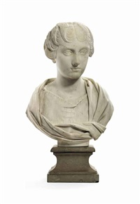 bust of faustina the younger by antique