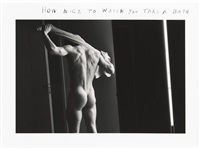 how nice to watch you take a bath (set of 5) by duane michals