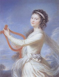 self portrait as the muse terpsichore by lady diana beauclerk