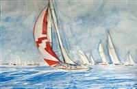 tomahawk, sloop bermudien by rene glorion