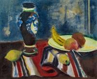 stillleben mit früchten und vase by joseph floch