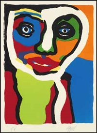 untitled (head) by karel appel