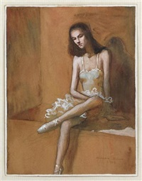 sin título (bailarina) by claudio bravo