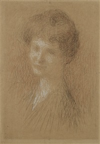 portrait de femme by ernest joseph laurent