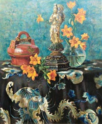 nature morte au bouddha by berthe art
