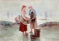 les ramasseuses de coquillages by pierre testu