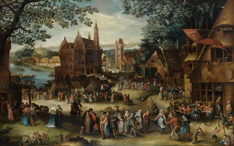 la kermesse dhoboken ou la kermesse de saint georges by david vinckboons