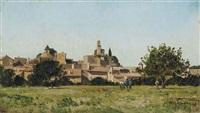 village de lourmarin dans le vaucluse by paul camille guigou