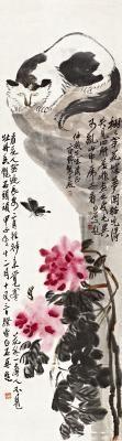 富贵耄耋 auspicious theme by qi baishi