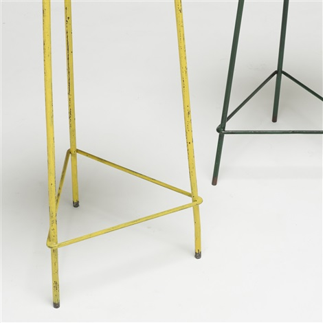 pair of stools from the college of architecture pair by pierre jeanneret