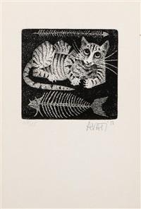 le chat et le poisson by mario avati