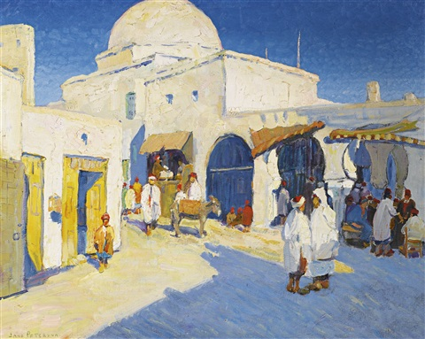 afternoon at the market by jane peterson