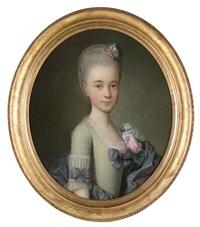 bildnis einer jungen dame by françois hubert drouais