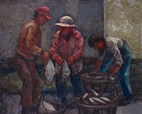 penghu fish market iiii by jan chin-shui