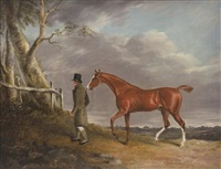 a gentleman and his horse by benjamin marshall