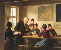 singing lesson in sønderho, fanø by johann julius exner