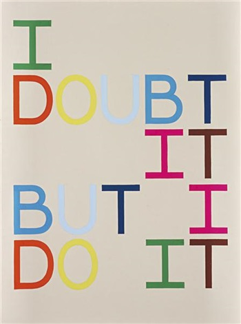 i doubt it but i do it anagram xii by tauba auerbach