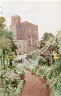 henry iii tower from norman tower garden by cyril ward