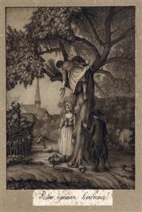 pasteur réprimant l'indécence by jean-jacques lequeu