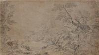 bergers dans un paysage rocailleux by gaspard dughet