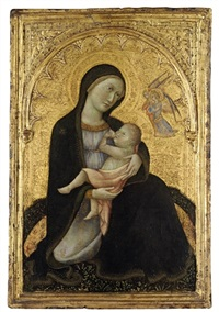 the madonna dell'umiltà, with two angels by andrea di bartolo