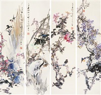 flower and bird (+ 3 others; 4 works) by lin jinding
