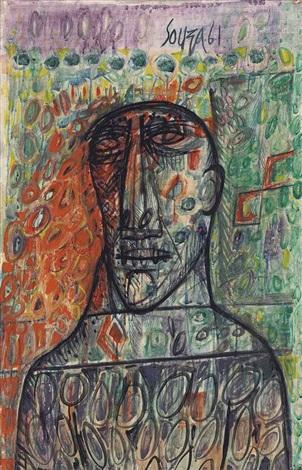 untitled head by francis newton souza