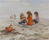 untitled - children on a beach by jose trinidad