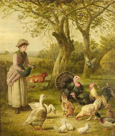 feeding time by henry charles bryant