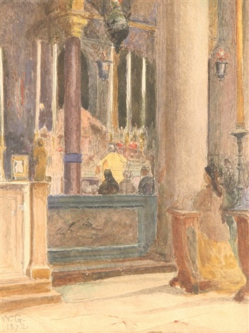 church interior by walter gay