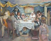 festsaal mit hochzeitsgesellschaft by richard eberle