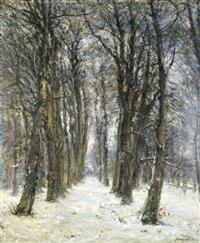 le bois sous la neige by franz courtens