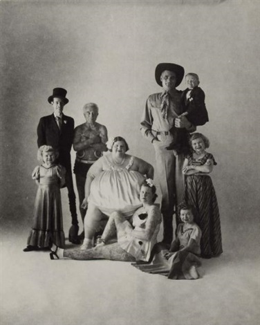 circus side show people by irving penn