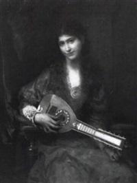 la joueuse de mandoline by jules louis machard