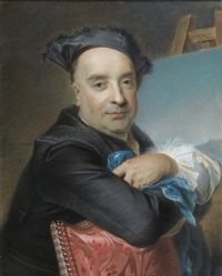 portrait of claude dupouch by maurice quentin de la tour