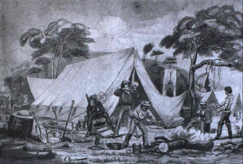 gold prospectors camp by george lacy