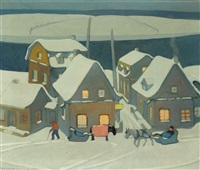 winter evening by frank charles hennessey