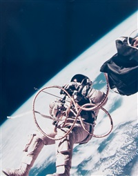 ed white, the first u.s. space walk, gemini iv, june by james mcdivitt