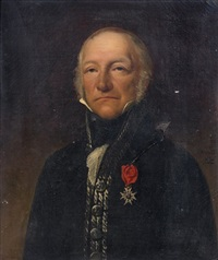 portrait d'homme by alexis leon louis valbrun