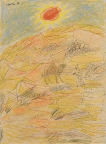 le désert by jean dubuffet