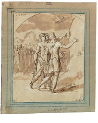 aeneas and achates encouraged by venus to go to carthage by giuseppe (salviati) porta