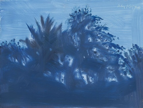 late afternoon blue by alex katz